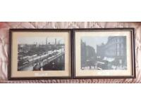 Pair of 'Old Belfast' black and white pictures