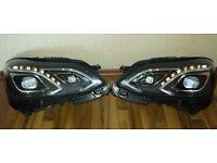 Pair Original left hand drive Europe Bi-xenon headlights E Class W212 2010 -2016 LHD MOT TUV APK ITV