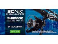 Shimano Ultegra 5500 XTD & Sonik S3 50mm Carp Rod Combo