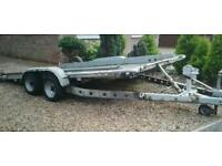 "BRIAN JAMES TWIN AXLE TILT BED RECOVERY CAR TRAILER (14' X 6'3"" BED) WITH WINCH"