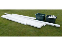 Guttering: White UPVC. Never Used. Troughs, Downpipes and fittings