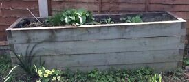 2 Matching Large Wooden Planters - 4 x 1 Feet