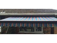 COMMERCIAL QUALITY FULL CASSETTE AWNING 3 METRES EX-DISPLAY EXCELLENT CONDITION