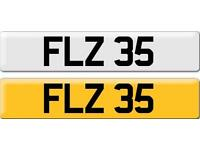 *FLZ 35* Dateless Personalised Cherished Number Plate Audi BMW M3 Ford VW Caddy Mercedes Vauxhall