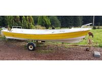 Fishing boat and trailer & a free days brown trout fishing
