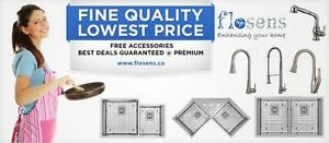 Kitchen Undermount sink| 16 Gauge | Premium | Free GRIDS | ALL SIZES| KITCHEN FAUCETS|WASHROOM FAUCETS