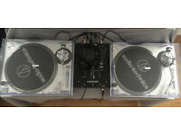 Pair of Audio Technica At Lp120-Usb Turntables PLUS Allen & Heath Xone 23 Mixer
