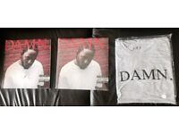 Kendrick Lamar - DAMN. Limited Edition Autographed Vinyl + T-shirt (Large)