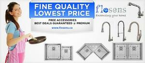 Kitchen undermount Sinks| UnderMount Sink| Corner Sinks | Free Grids | Free Strainers| 16 Gauge Premium