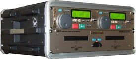 PROFESSIONAL NUMARK DUAL CD PLAYER WITH CONTROLLER AND TRANSIT CASE