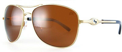 Sundog Golf Freestyle TrueBlue Golf Sunglasses Gold with Brown Lens