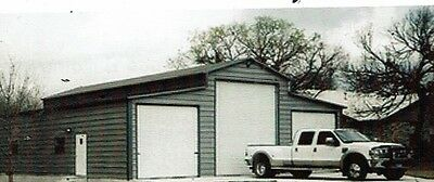 42 X 40 Fully Enclosed Garage With 14 Leg - 12x12 Roll-up In Center