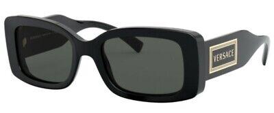 54-19-140 Grey Lens Versace VE4376B GB1//87 54mm Sunglasses Black