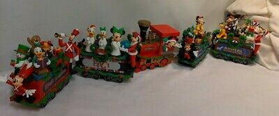 WDW Disney Park Christmas 5 Piece Character Train Set 2008 Magic Kingdom Engine