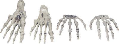 Morris Costumes Haunted House Plastic Skeleton Hands And Feet Prop. SS88536 - Skeleton Hands And Feet