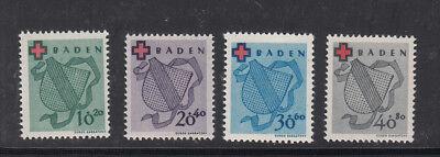 Baden, Nr. 42-45, postfrisch