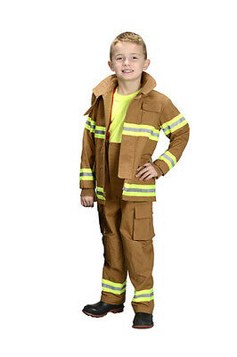 Kids Jr Firefighter Costume - Tan](Tan Firefighter Costume)