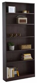 HOME Maine Tall Wide Bookcase - Walnut Effect