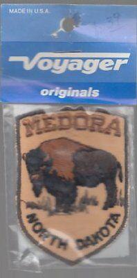 "Embroidered Vintage Souvenir Travel Patch 2""x3"" - Medora North Dakota - Buffalo"