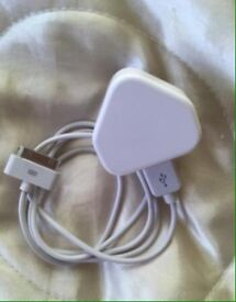 Apple iPad original charger and cable