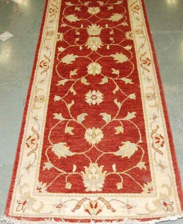 Red Genuine Handmade 19 foot Jaipur Rust New Indo 37 x 233 in Woollen Runner