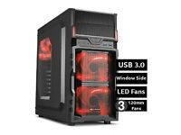 The Big Red - Powerful Quad Core 4.2 GHZ APU A10 1000GB 8GB RAM ULTRA GAMING PC HD