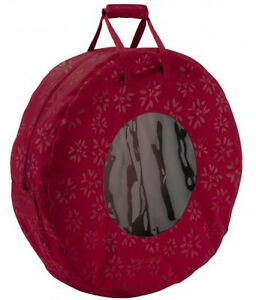 Christmas Wreath Storage Bag - New - Cranberry Red Color
