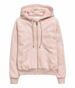 NEW H&M Women's Pink Zip-Up Hoodie size XL