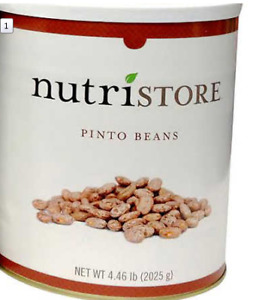 Dry Pinto beans - #10 can  4.46 lb - survival food