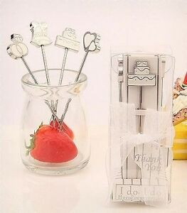 28 Wedding Favours - Wedding Themed Fruit or Hor d'oeuvres Fork