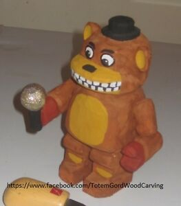 Freddy Fazbear hand carved and hand painted 5 1/2 inch tall Peterborough Peterborough Area image 1