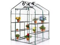 Replacement cover for 6 x 4 plastic greenhouse - brand new & unused £10 ono