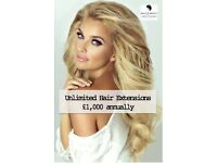 Unlimited Hair Extensions for only £1,000 annually