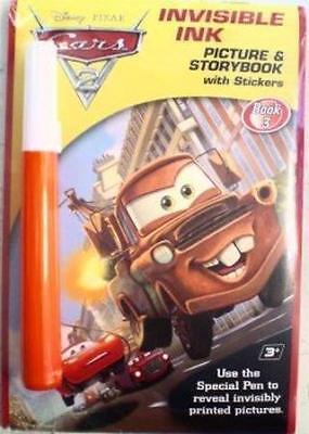 Invisible Ink Books: Disney CARS 2 Magic Pen Book Invisible Ink & Magic Pen Book (Invisible Ink Book)
