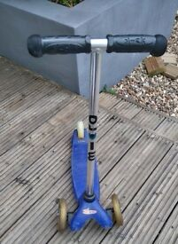 Kids Blue Mini Micro scooter well used but in good condition