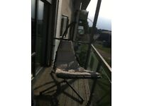 Outdoor hanging chair - with Cushion and Head Rest- Great for Summer