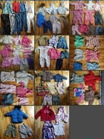 Huge bundle of baby/kids clothes ages 0 to 5 years boys and girls