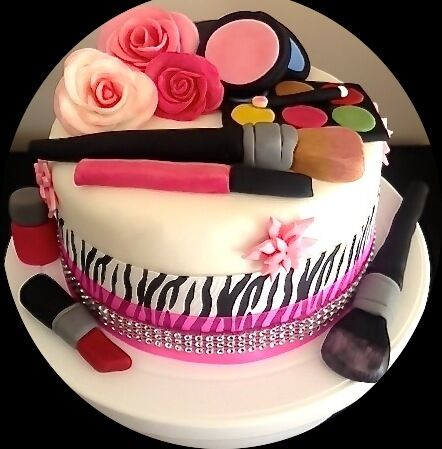 Beautiful Girls Make Up Design Birthday Cake Wedding Cakes Christening Any Occasion