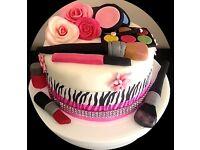 Beautiful Girls Make Up Design Birthday Cake, Wedding Cakes, Christening Cakes, Any Occasion
