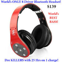World's ONLY 8 Driver Bluetooth Headphones! Dre KILLERS $139&$69
