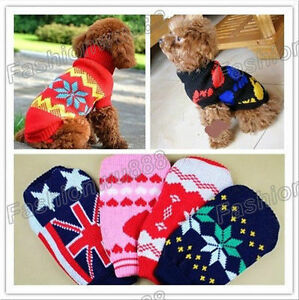 Chandail chaud pour chien ou chat, tricot, lainage pour animaux