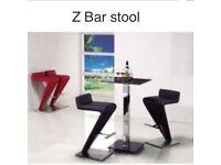 Bar home glass and chrome bar table