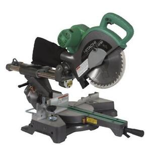 "Hitachi 10"" Sliding Dual Compound Mitre Saw w/ Laser C10FSHPS"