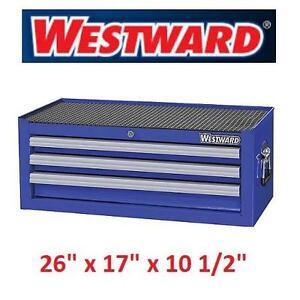 "NEW* WESTWARD 3 DRAWER TOOL CHEST 26"" INTERMEDIATE HEAVY USE - BLUE 103560263"