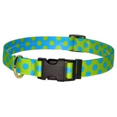 NEW Green & Blue Polka Dot Dog and Cat Collar or Leash by Yellow Dog Design