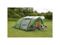 Kampa Brean 4 Air Tent + 12v Gale Pump and Mains adaptor,Footprint. All New in Boxes