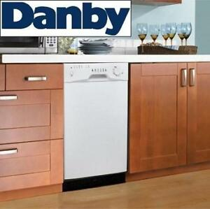 NEW DANBY BUILT IN DISHWASHER DDW1809W-1 139814144 W/ STAINLESS STEEL TUB DISHWASHERS DISHES CLEANING KITCHEN APPLIAN...