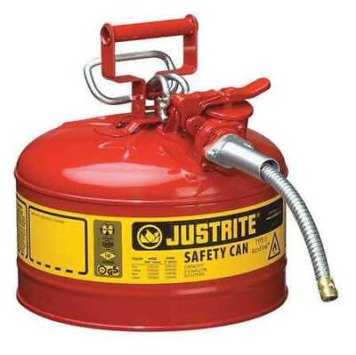Justrite 7225120 2-12 Gal. Red Steel Type Ii Safety Can For Flammables