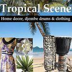 Tropical Scene Bali Decor, Djembes