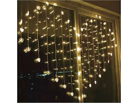 4.5M Heart Shape Curtain String Light Wedding Christmas Decorations